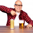 Royalty-Free Stock Photo: Fingering the beer