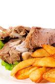 Fleisch und Kartoffeln — Stockfoto