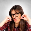 Stock Photo: Female mustache