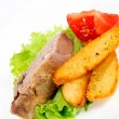 Meat and potato — Stock Photo