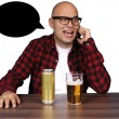 Stock Photo: Drunken conversations