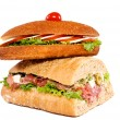 Sandwiches isolated - Stock Photo