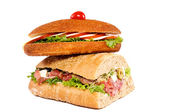 Sandwiches isolated — Stock Photo