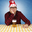 Bored Santa — Stock Photo