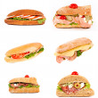 Isolated tasty sandwiches - Stock Photo