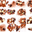 Bunch of pralines — Stock Photo