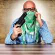 Royalty-Free Stock Photo: Terrorist negotiator