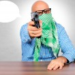 Man with gun — Stock Photo