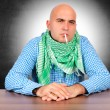 Stock Photo: Mwith cigarette