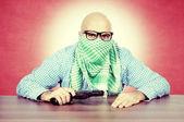 Vintage terrorist — Stock Photo