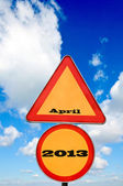 April on sign — Stock Photo