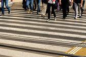 行人过路处 — 图库照片