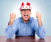 Santa is crazy — Stock Photo