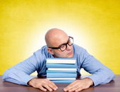 Sleeping on books — Stock Photo