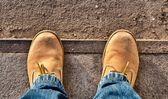 Yellow boots — Stock Photo