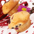 Stock Photo: Cherry muffin