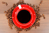 Coffee above — Stock Photo