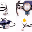 Stock Photo: Sphygmomanometer isolated