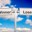Stock Photo: Winner or loser