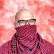 Man with scarf — Stock Photo