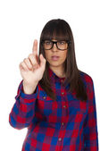 Female finger — Stock Photo