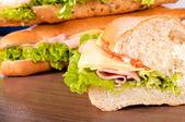 Metà del panino — Foto Stock
