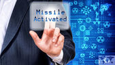 Missile activated — Stock Photo