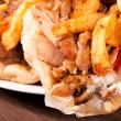 French fries and gyros - Stock Photo