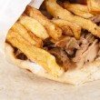 Gyros on tortilla — Stock Photo