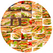 Sandwich circle — Stock Photo
