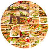 Sandviç daire — Stok fotoğraf