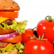 Double hamburger — Stock Photo