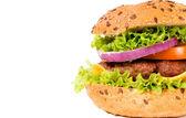 Hambúrguer metade — Foto Stock