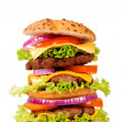 Triple hamburger — Stock Photo
