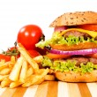 Cheeseburger time — Stock Photo