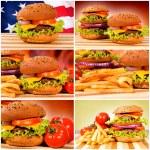 American burgers — Stock Photo