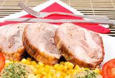 Pork meal — Stock Photo