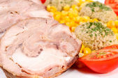 Vegetables and pork — Foto de Stock