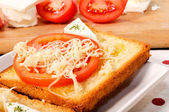 Cheese sandwich — Стоковое фото