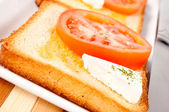 Light sandwich — Stock Photo