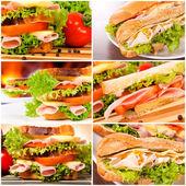 Lezzetli sandviçler — Stok fotoğraf