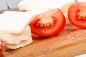 Tomate y queso feta — Foto de Stock