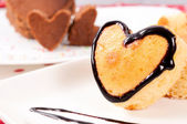 Heart cake — Stock Photo