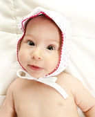 Baby and hat — Stock Photo