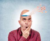 Head message — Stock Photo