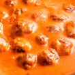 Meat balls and sauce - Stock Photo