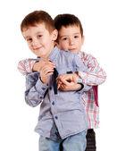 Brothers hug — Stock Photo