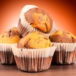 Homemade cup cakes — Stock Photo
