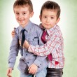 Brother hug — Stock Photo