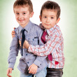 Brother hug - Stock Photo